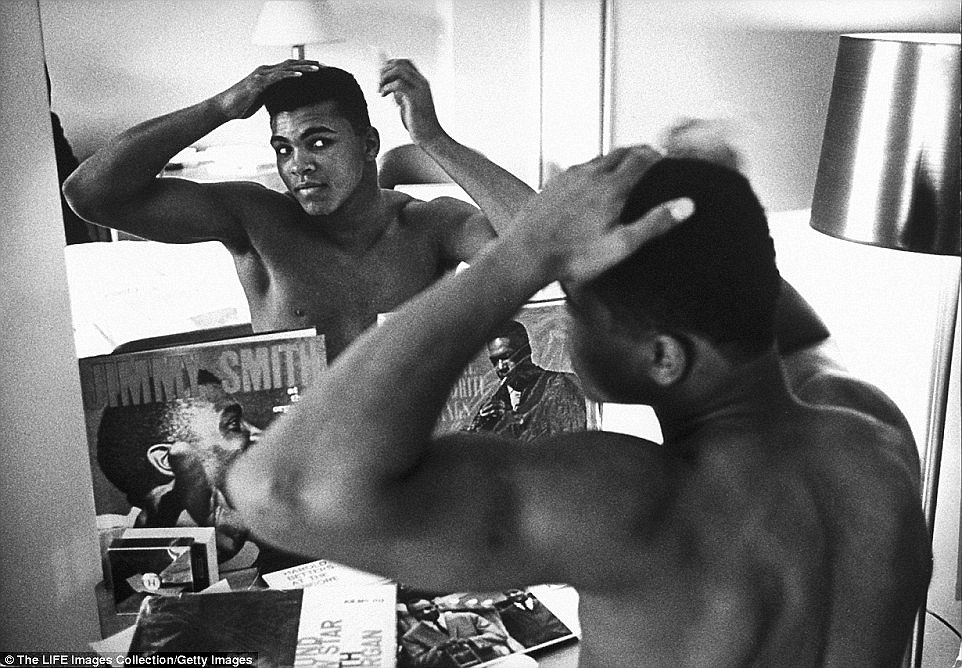 Ali looks at himself in the mirror and told anyone who would listen that the was both handsome and pretty