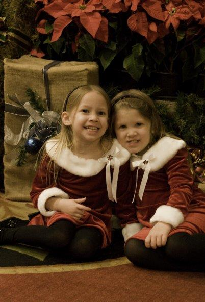 Photo: Aryanna and Alaya ready for Christmas