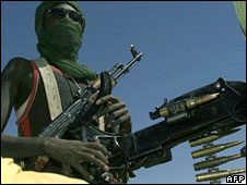 A member of the Sudan Liberation Army  The five-year conflict in Darfur has left 300,000 people dead