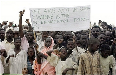 Refugees at the Kalma Camp in south Darfur, in 2005.  Picture: UN
