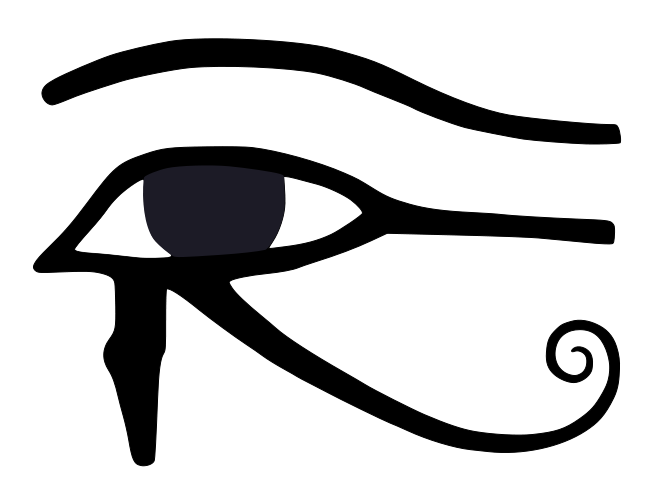 File:Eye of Horus bw.svg