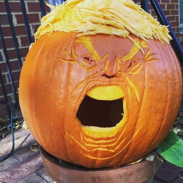 Trumpkin: Americans are carving their Halloween pumpkins as Donald ...